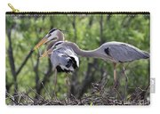 Affectionate Great Blue Heron Mates Carry-all Pouch