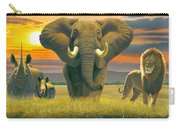 Africa Triptych Variant Carry-all Pouch