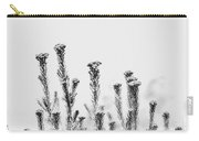African Bushland-black And White Carry-all Pouch