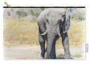 African Elephant At Waterhole Carry-all Pouch