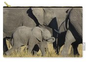 African Elephant Calf With The Herd Carry-all Pouch
