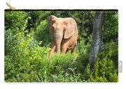 African Elephant Coming Through Trees Carry-all Pouch