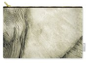 African Elephant Detail With Eye Carry-all Pouch