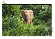 African Elephant Eating In The Shrubs Carry-all Pouch