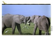 African Elephant Greeting Endangered Species Tanzania Carry-all Pouch