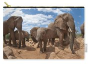 African Elephant Herd Kenya Carry-all Pouch