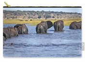 African Elephants Crossing Chobe River  Botswana Carry-all Pouch