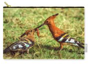 African Hoopoe Feeding Chick Carry-all Pouch