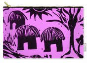 African Huts Pink Carry-all Pouch