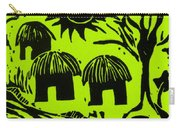 African Huts Yellow Carry-all Pouch by Caroline Street