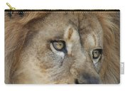 African Lion #5 Carry-all Pouch