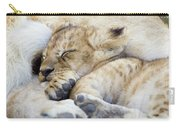 African Lion Cub Sleeping Carry-all Pouch