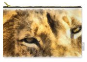 African Lion Eyes Carry-all Pouch