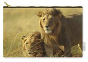 African Lion Juvenile Males Masai Mara Carry-all Pouch
