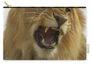 African Lion Male Growling Carry-all Pouch by San Diego Zoo