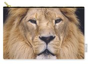 African Lion Male Portrait Carry-all Pouch