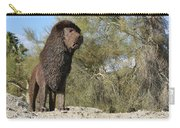 African Lion Sculpture Detail Carry-all Pouch