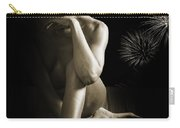 Chynna African American Nude Girl In Sexy Sensual Photograph And In Black And White Sepia 4791.01 Carry-all Pouch
