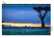 African Panoramic Sunset Landscape Carry-all Pouch
