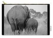 African Safari Elephants 3 Carry-all Pouch