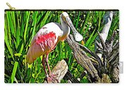African Spoonbill In San Diego Zoo Safari Park In Escondido-california Carry-all Pouch