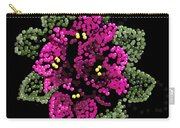 African Violets Bedazzled Carry-all Pouch