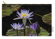 African Waterlily Dazzle -- Plus Dragonfly Carry-all Pouch