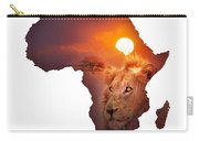 African Wildlife Map Carry-all Pouch by Johan Swanepoel