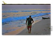 After A Long Day Of Surfing Carry-all Pouch by John Malone