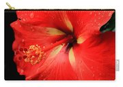 Georgia Red Hibiscus After A Rain Greensboro Georgia Art Carry-all Pouch