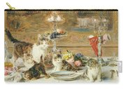 After Dinner Guests Carry-all Pouch by Louis Eugene Lambert