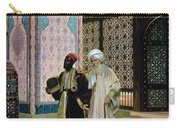 After Prayers At The Mosque Carry-all Pouch by Rudolphe Ernst