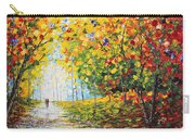 After Rain Autumn Reflections Acrylic Palette Knife Painting Carry-all Pouch