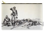 After The Battle Carry-all Pouch by Frederic Remington