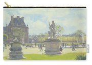 Afternoon In The Tuileries, Paris Oil On Canvas Carry-all Pouch