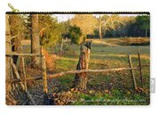 Afternoon Orange Gold Glow On Old Broken Fence Carry-all Pouch