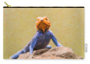 Agama Lizard On Rock Carry-all Pouch