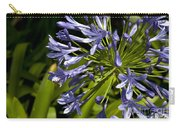 Agapanthus Flower And Bee Carry-all Pouch