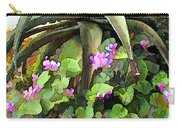 Agave And African Violets Carry-all Pouch