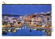Painting Of Agios Nikolaos City Carry-all Pouch