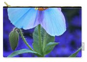 Aglow In Blue Tall View Carry-all Pouch