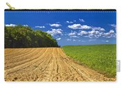 Agricultural Landscape - Young Corn Field Carry-all Pouch