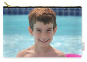 Aidan At The Pool Carry-all Pouch