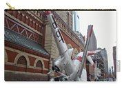 Airplane Sculpture In Philadelphia Pa - Navy S2f Carry-all Pouch