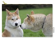 Akita Inu Dogs, Old And Young Carry-all Pouch