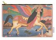 Al Buraq Dul Dul Horse Prophet Muhammad Painting Handmade Islamic Paper Painting Folk Art Carry-all Pouch