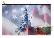 Battleship Alabama And Flag Carry-all Pouch