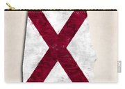 Alabama Map Art With Flag Design Carry-all Pouch