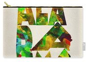 Alabama Typographic Watercolor Map Carry-all Pouch