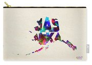Alaska Typographic Watercolor Map Carry-all Pouch